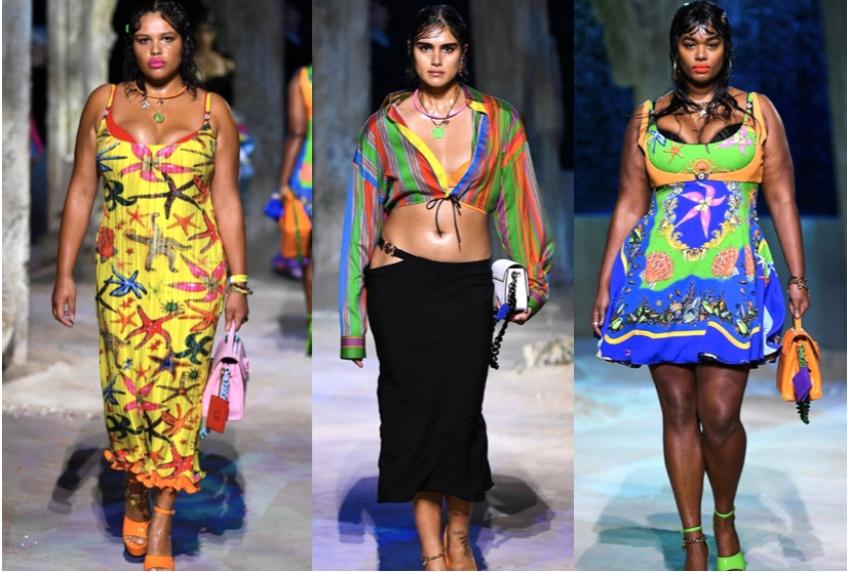 Trois mannequins taille 40 défilent pour Versace, une grande première !