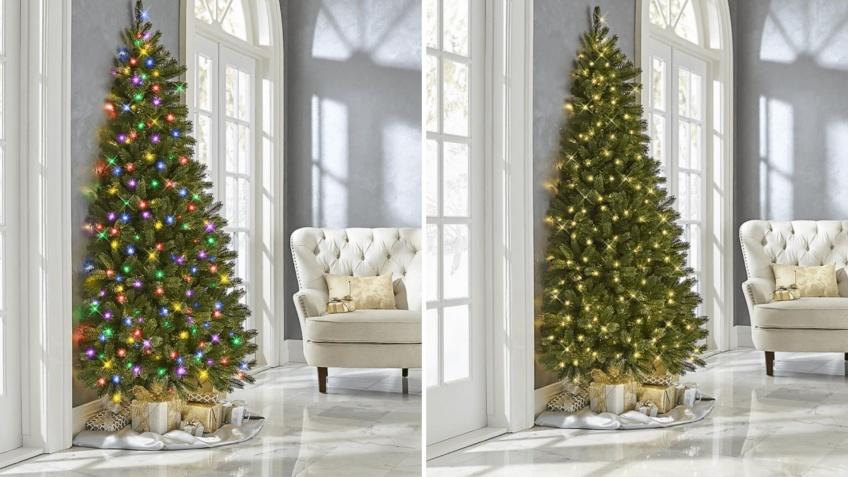 Petit appartement, nous avons la solution pour votre sapin de Noël, avec le demi-sapin !