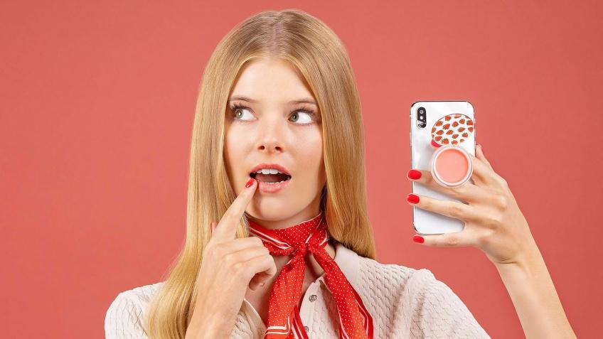 PopGrips Lips : Un baume à lèvres accroché à votre téléphone