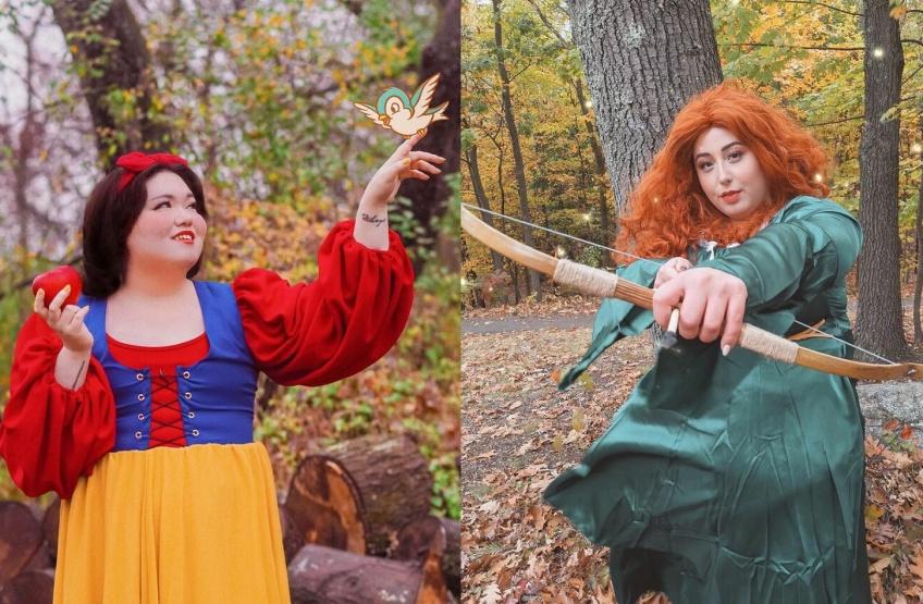Elles se transforment en princesses Disney et montrent que la beauté n'a pas de tour de taille !