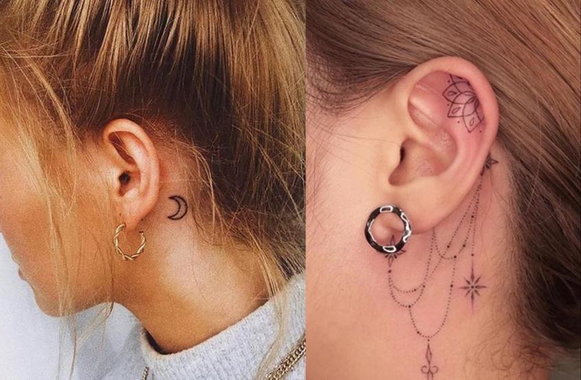 20 superbes idées de tatouages pour les oreilles