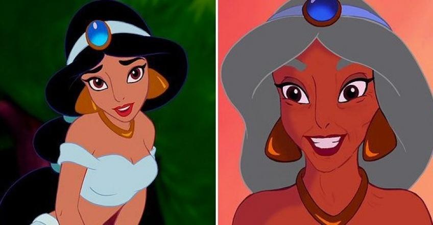Cet artiste à imaginé à quoi pourraient ressembler les princesses Disney en prenant de l'âge !