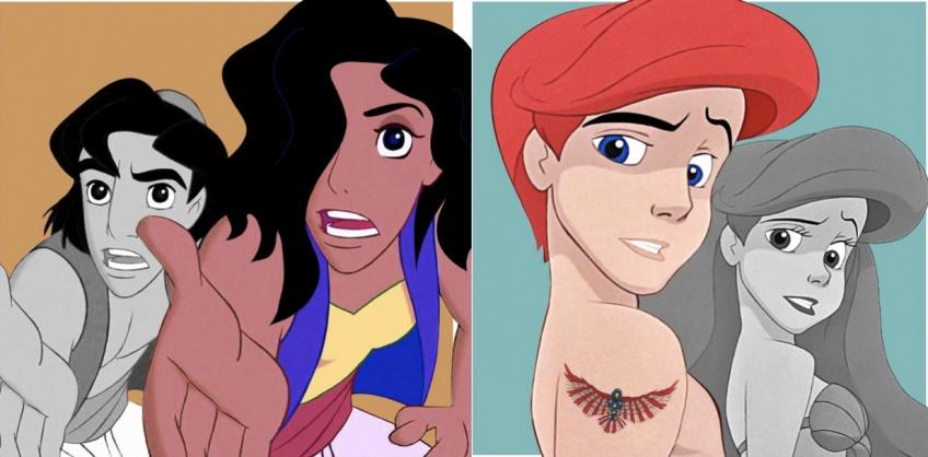 Cet artiste imagine les personnages Disney transgenres !