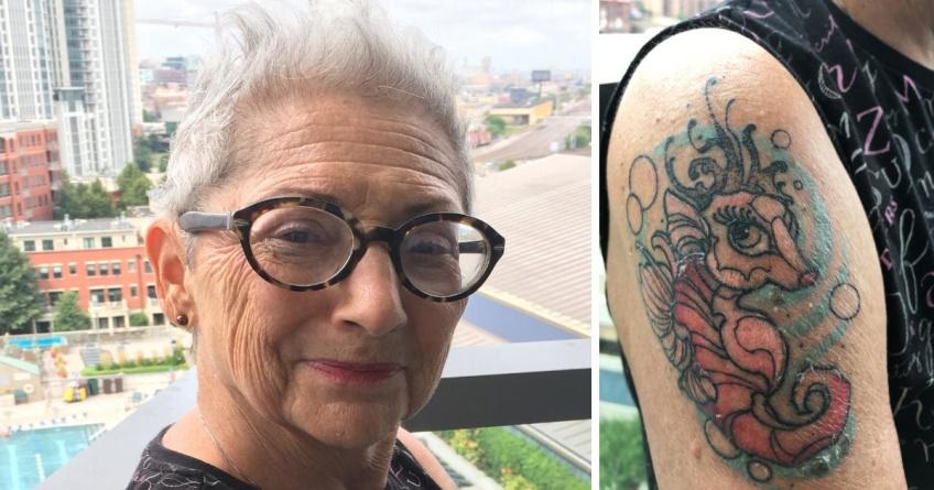 50 ans et alors #2 : pour fêter ses 80 ans, elle s'offre un tatouage au lieu d'un lifting !