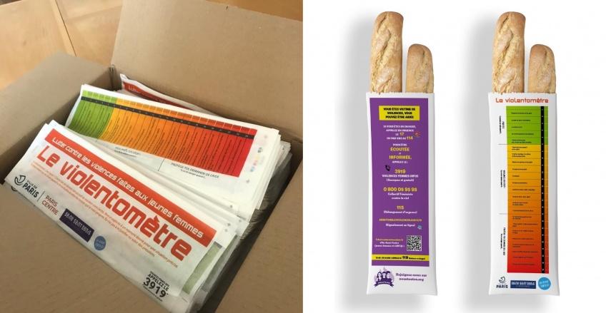 Violences conjugales : un 'violentomètre' imprimé sur les sacs à baguette de pain