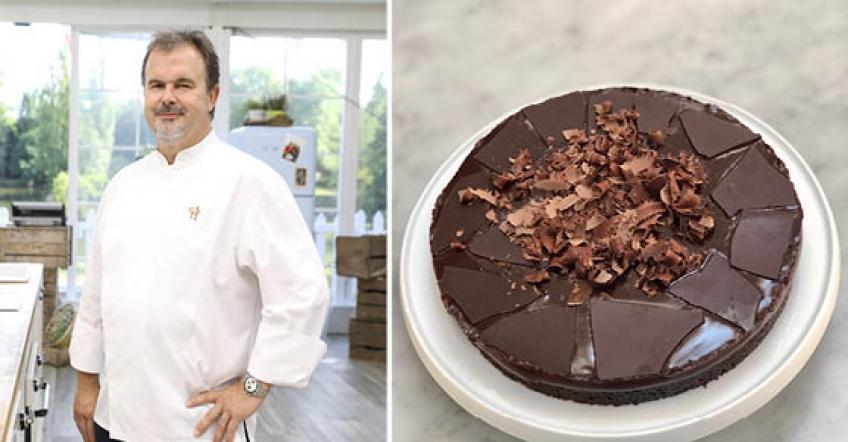 La tarte fondante infiniment chocolat noir à la fleur de sel de Pierre Hermé... Merci chef !