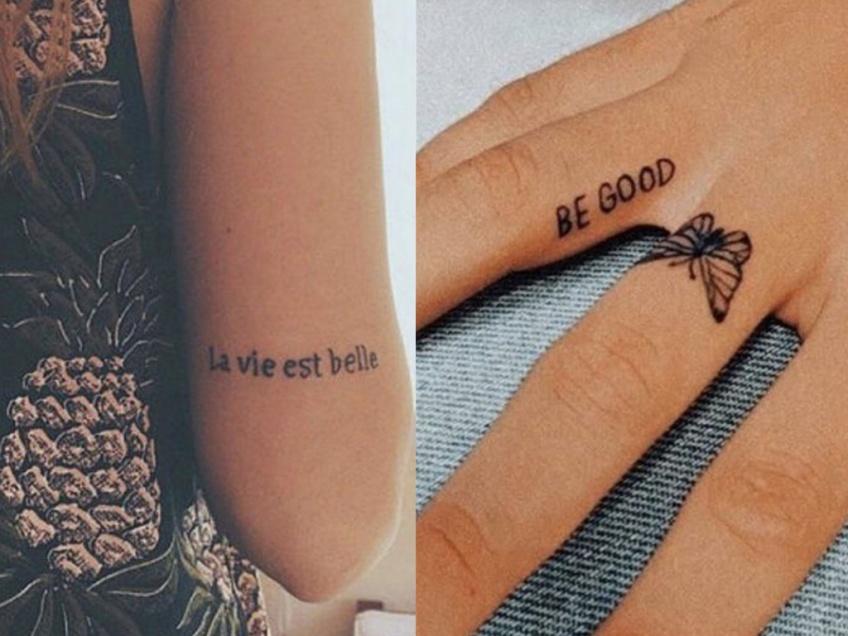 20 phrases tatouées qui ont beaucoup de sens !