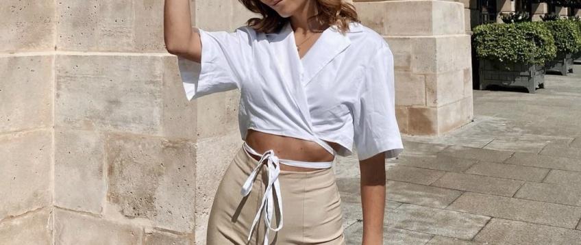 La chemise courte à nouer : la tendance indispensable à avoir dans son dressing printanier !