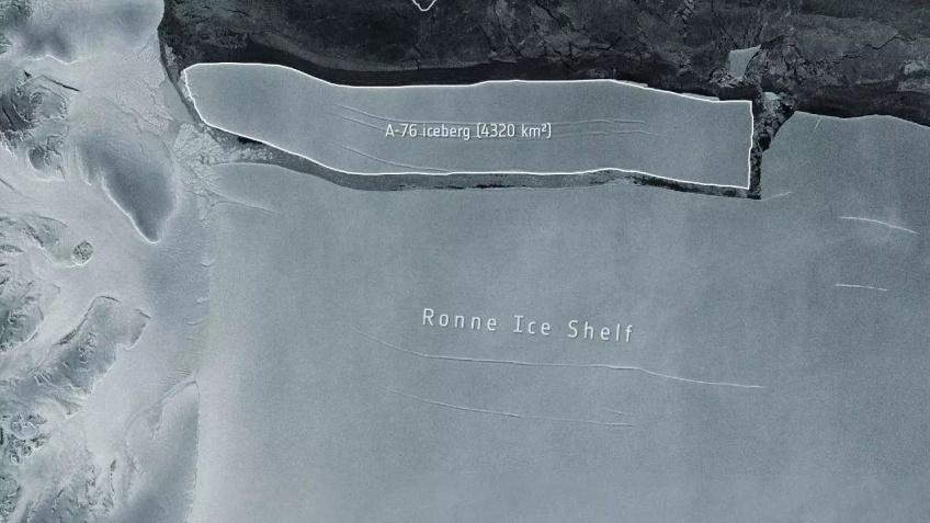 Insolite : Le plus gros iceberg du monde s'est détaché de l'Antarctique