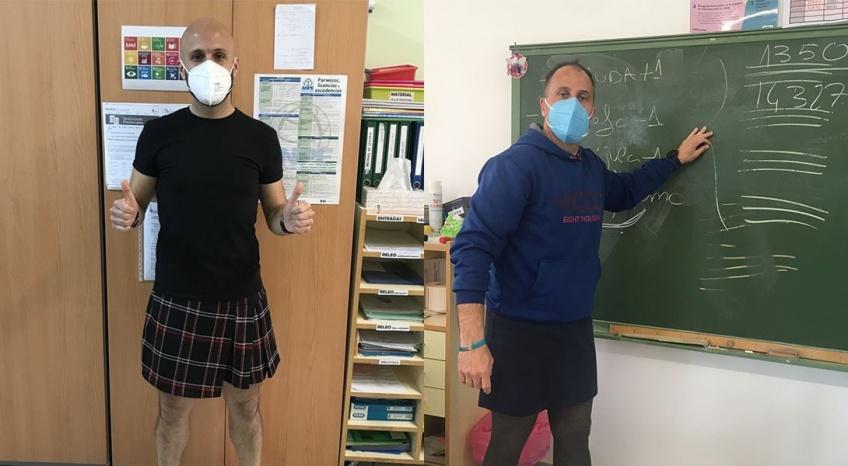 En Espagne, des professeurs font cours en jupe pour dénoncer l'homophobie