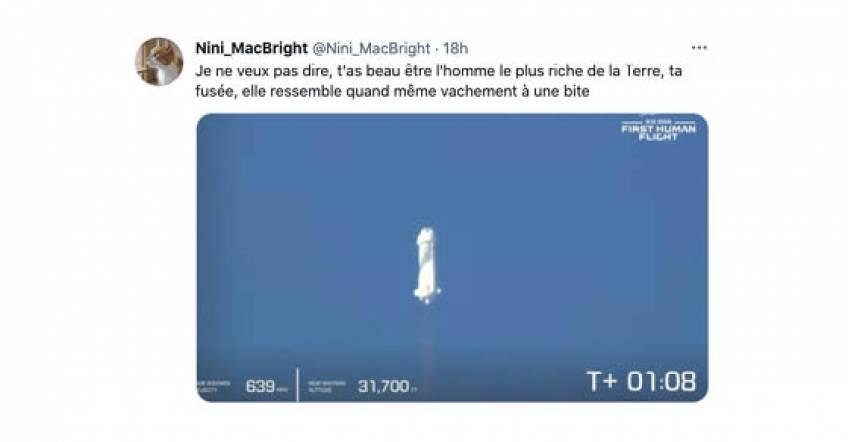 Les meilleures réactions Twitter sur le vol spatial de Jeff Bezos