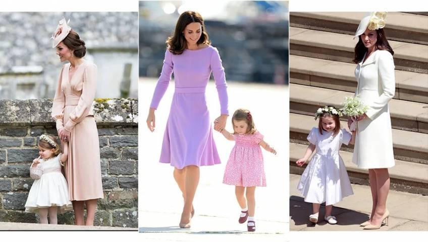 7 photos adorables de Kate Middleton et ses enfants avec des tenues assorties