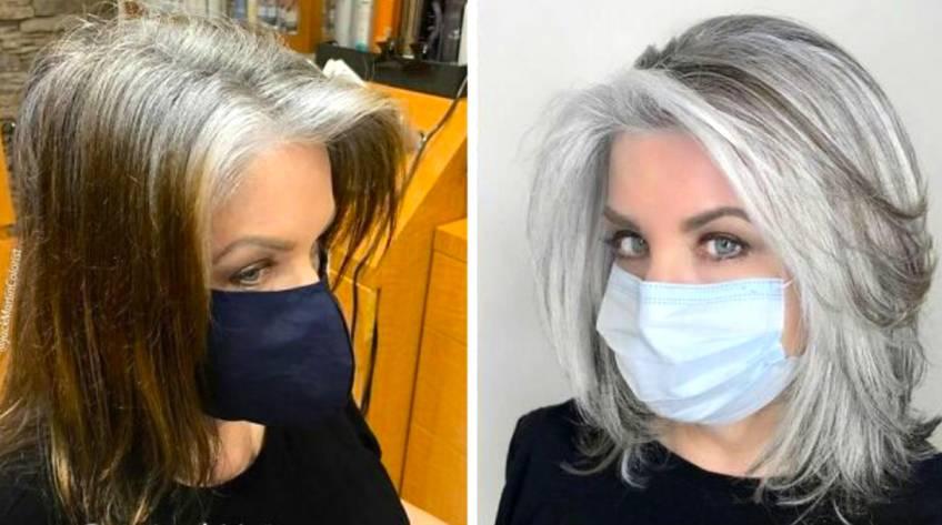 Ces avant-après prouvent que les cheveux gris sont canon !