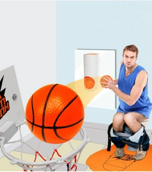 Jeu de basket pour les toilettes