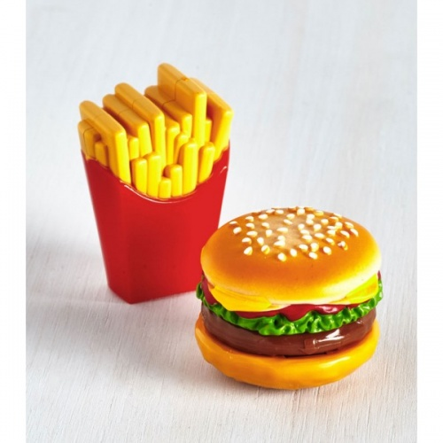 Duo de gloss frites et burger