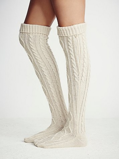 chaussettes blanches free people
