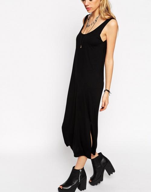 robe asos noire fendue côté