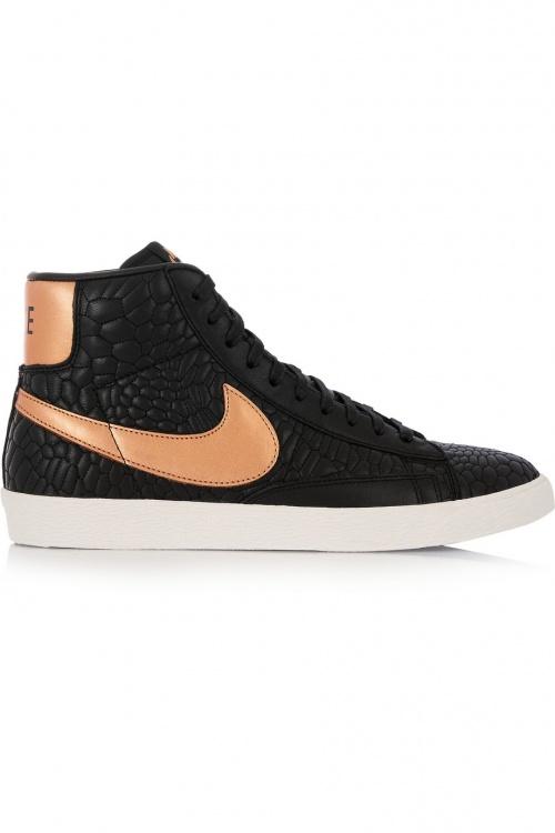 Nike - baskets montantes noires et roses