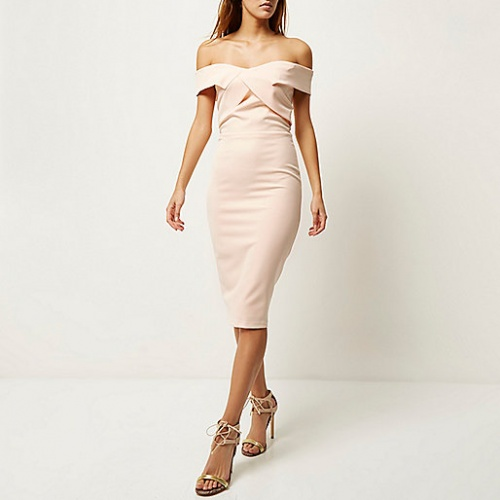 River Island - Robe rose