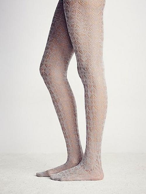 collants laine ajourées free people