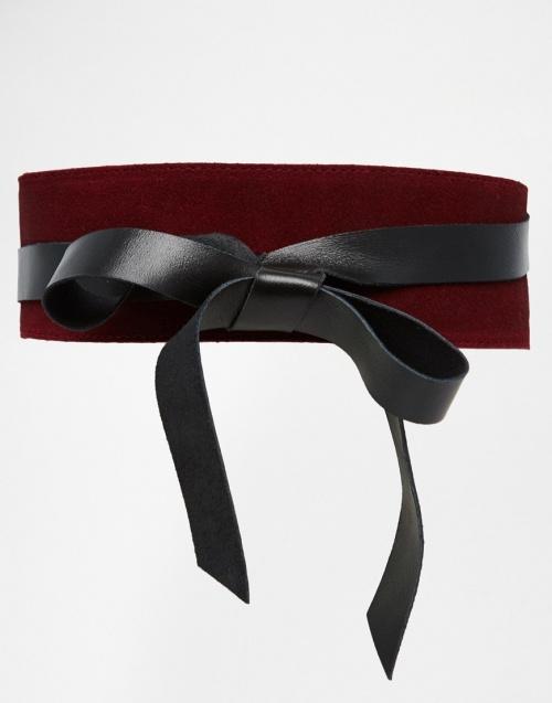 ceinture obi asos noire et rouge