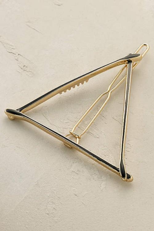 Anthropologie barrette triangle