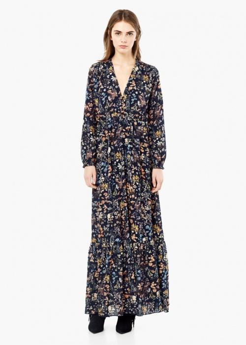 robe longue fleurie mango