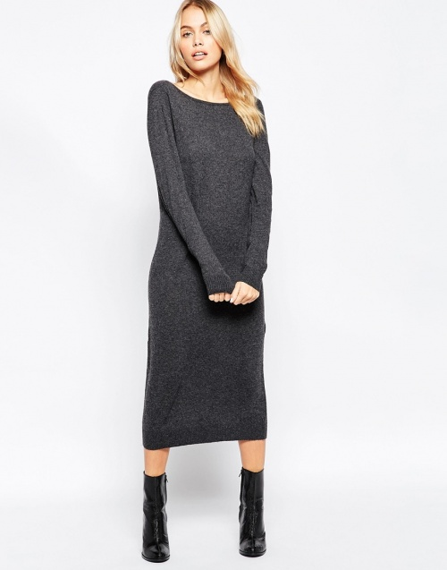 robe pull selected grise
