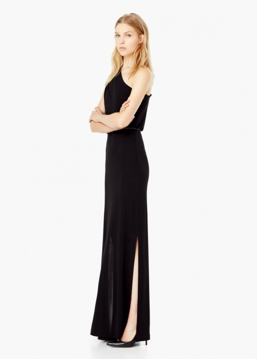 robe noire mango fendue