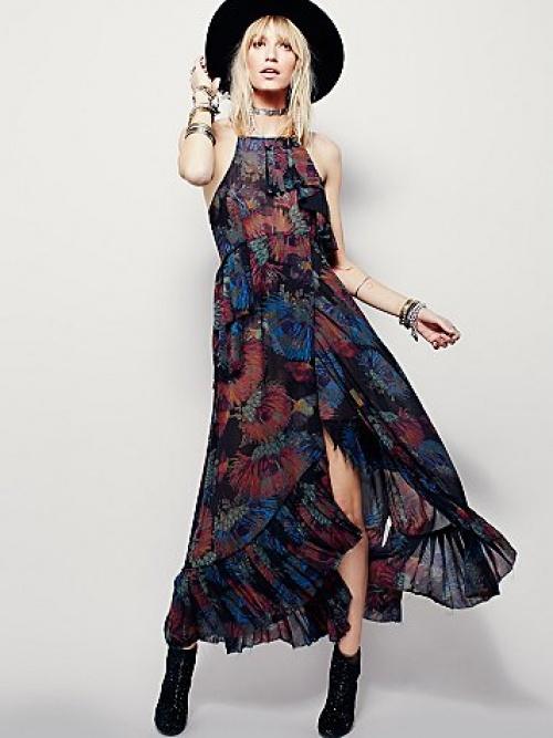 robe maxi fleurs free people