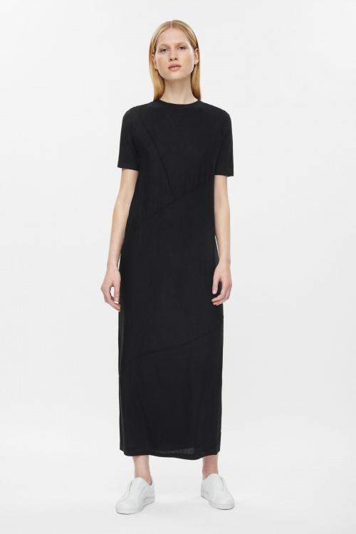 robe mi longue cos noire