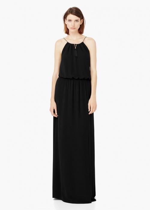 robe longue noire mango