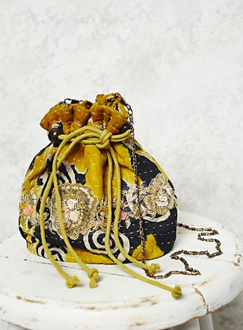 sac free people boho jaune