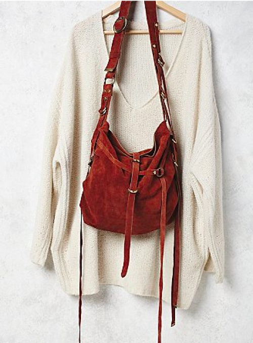 sac free people marron bandouliere