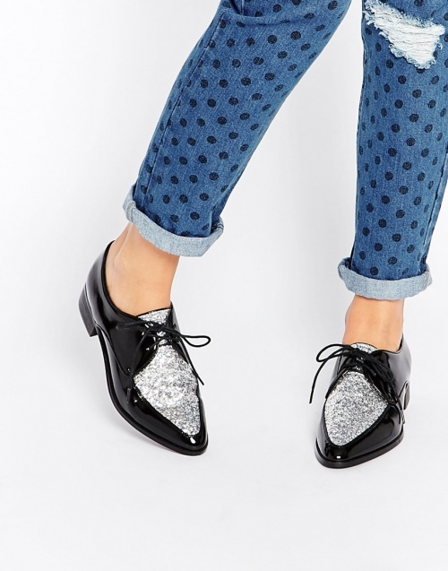 chaussures style homme sequins