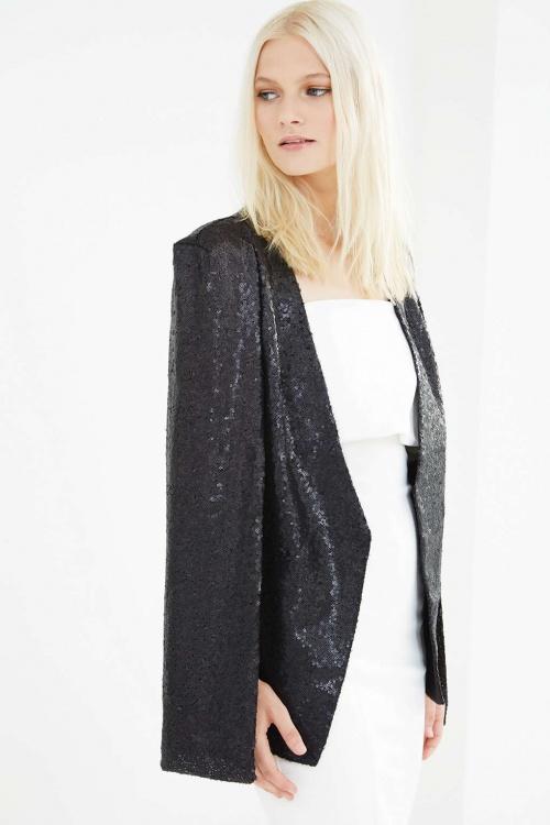 veste noire en sequins topshop