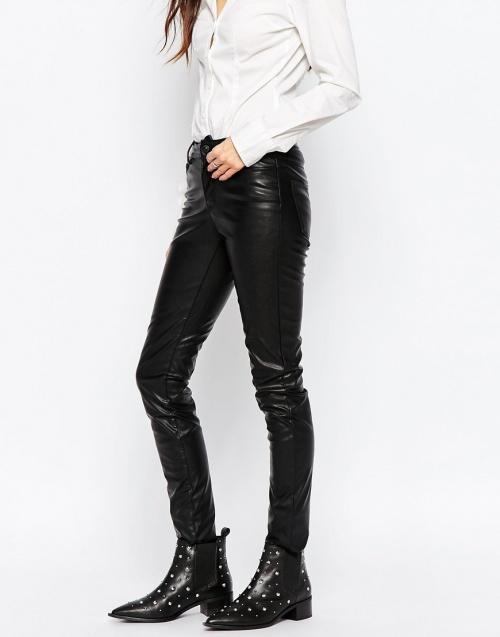 pantalon simili cuir vero moda