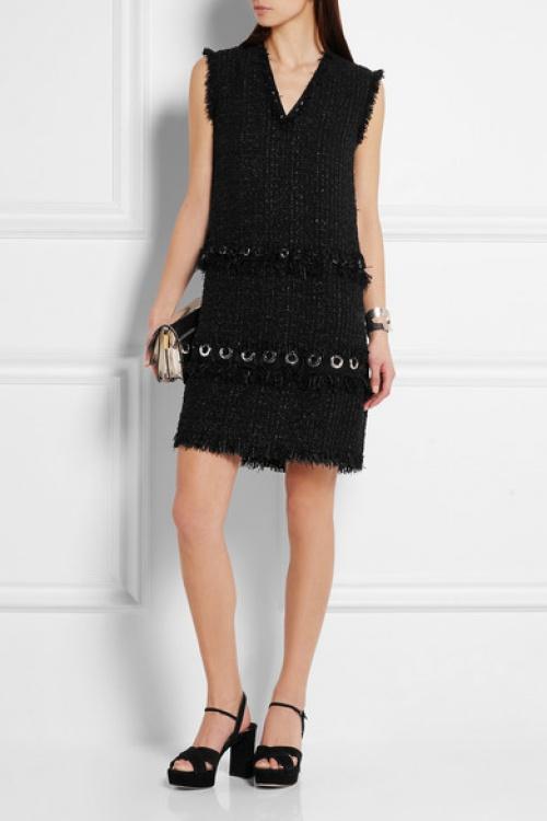 Lanvin - robe tweedée oeillets