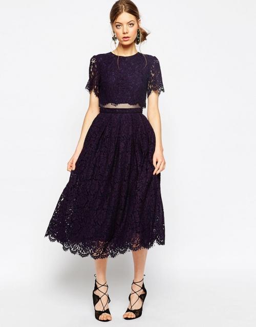 Asos - robe dentelle effet deux pièces