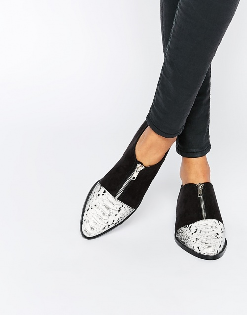 Asos - mocassins bout affet serpent