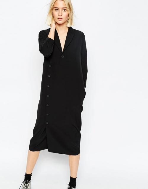 Asos White - robe combinaison noire