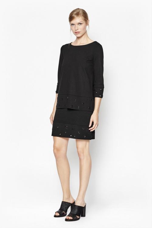 French Connection - jupe noire à oeillets