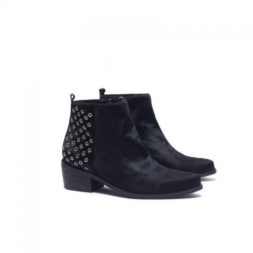 Suncoo - boots noires poulain oeillets
