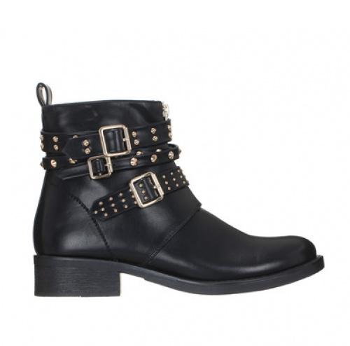 Pieces - boots noires cloutées