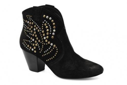 Ash - boots cloutées daim noir