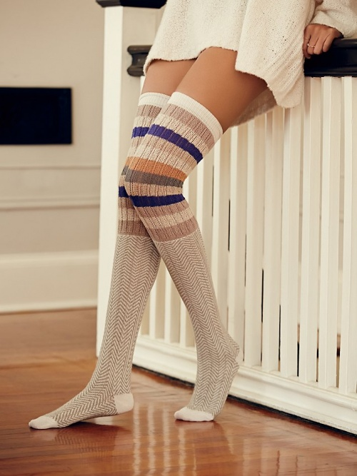 chaussettes hautes free people