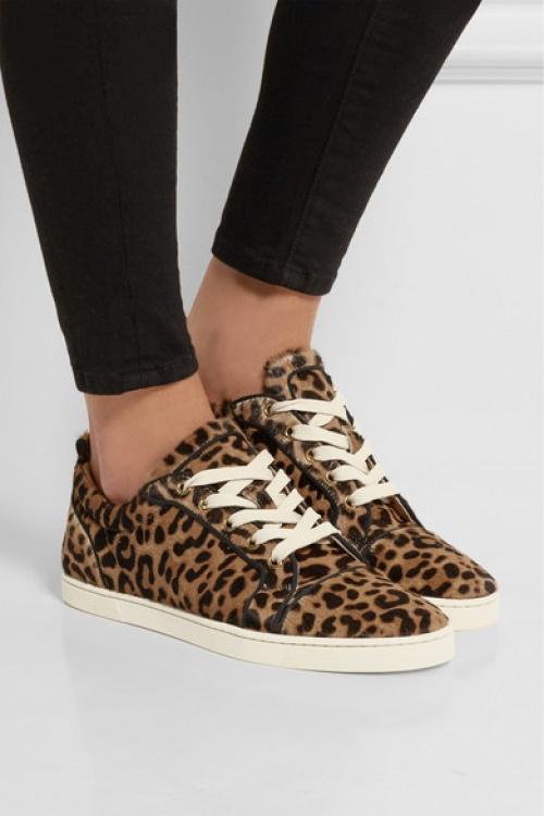 Louboutin - baskets imprimé léopard