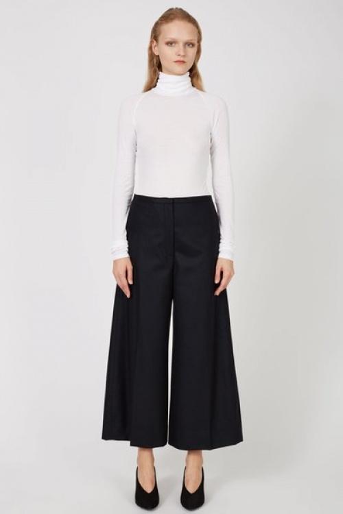 Lemaire  pantalon court évasé noir