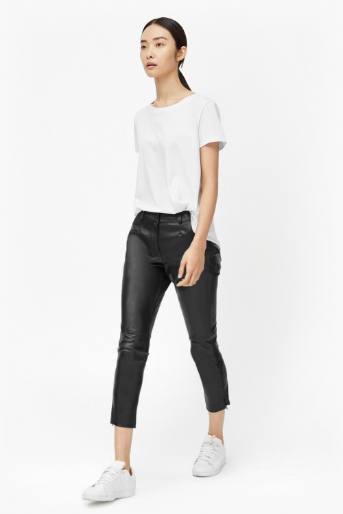 French Connection pantalon effet cuir court