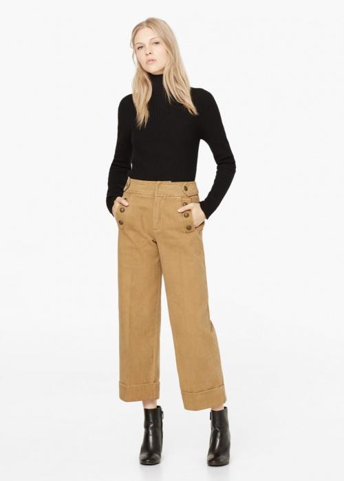 Mango - pantalon cropped beige
